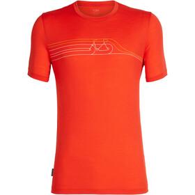 Icebreaker Tech Lite Cadence Pulse t-shirt Heren, chili red